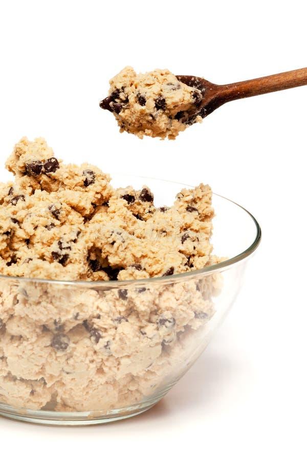 Bol de la pâte de biscuit photos stock