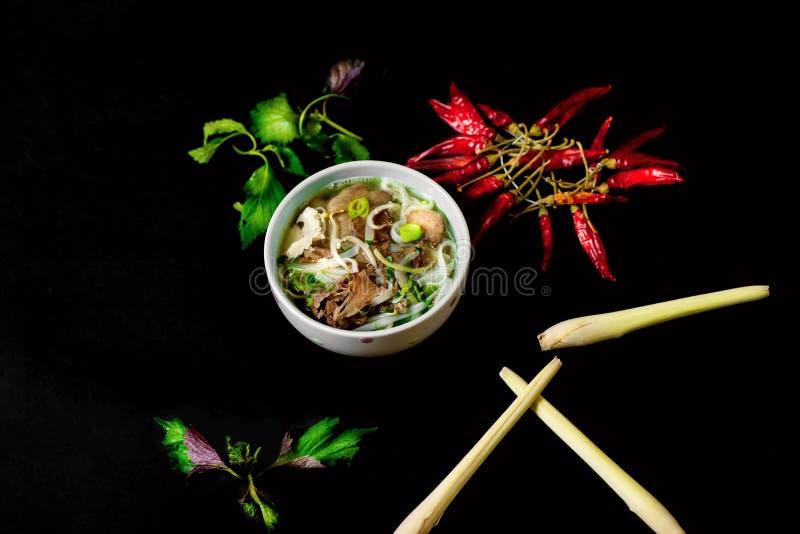 Bol de soupe asiatique photo stock