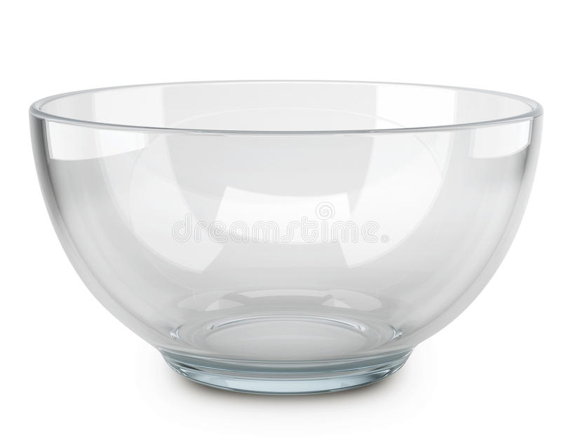 Bol de vidrio transparente vac o stock de ilustraci n - Bol de vidrio ...
