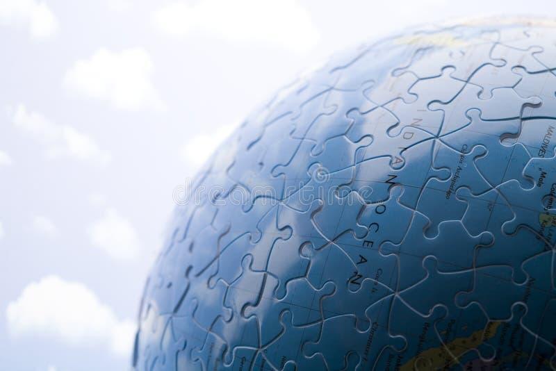 Bol die van raadsel wordt gemaakt stock afbeelding