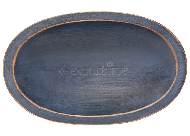 Bol en bois ovale de la pâte de tranchoir images stock