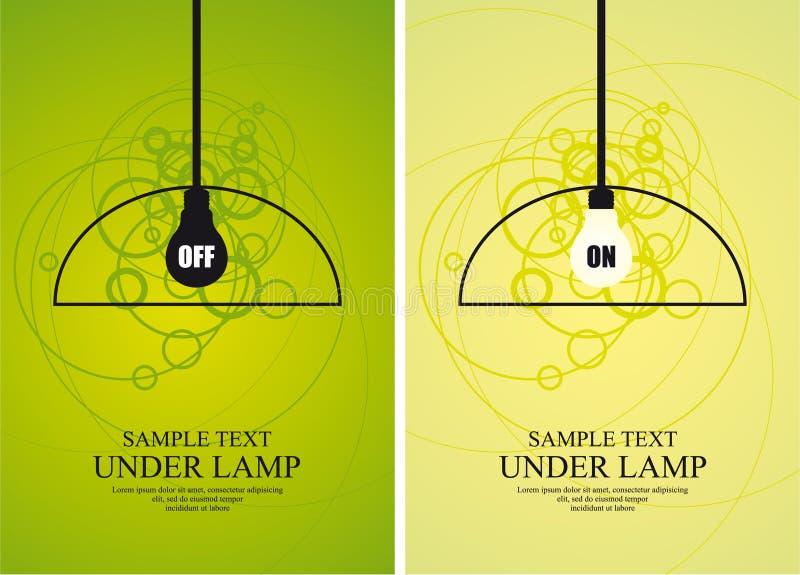 Bol en lamp op cirkelachtergrond royalty-vrije illustratie