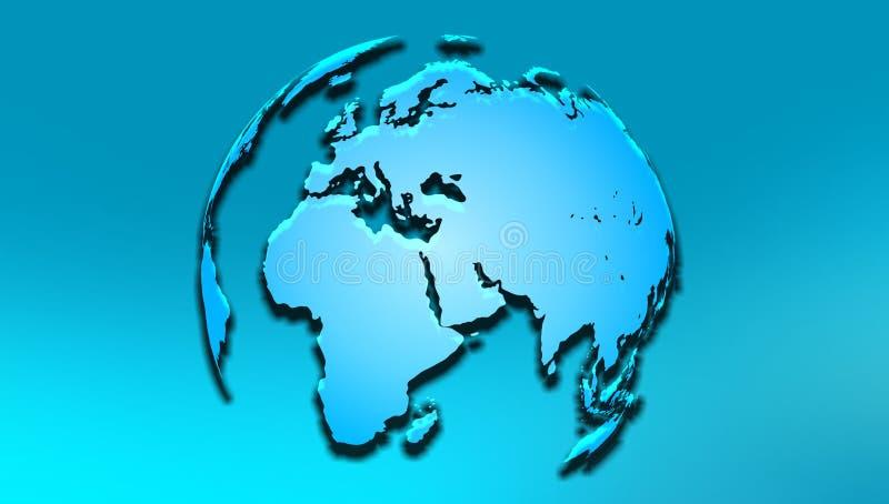 Bol Europa Afrika Vector illustratie stock illustratie