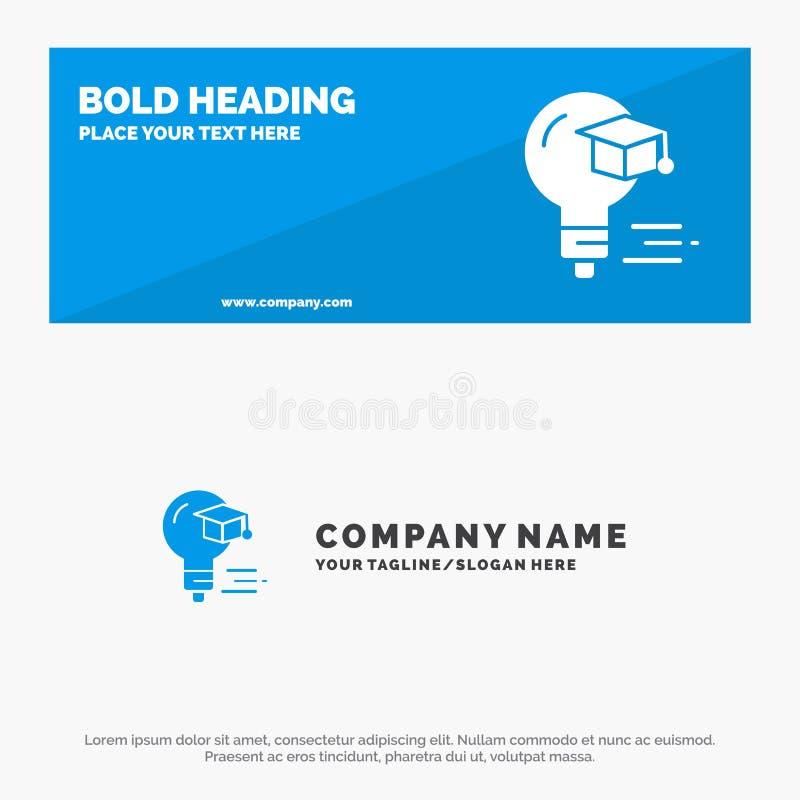 Bol, GLB, Onderwijs, de Websitebanner en Zaken Logo Template van het Graduatie Stevige Pictogram royalty-vrije illustratie