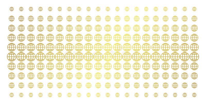 Bol Gouden Halftone Effect vector illustratie