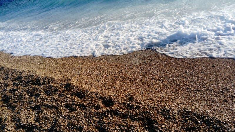 Bol, isola di Brac, Croazia, Dalmazia Capo dorato del ratto di Zlatni della spiaggia fotografia stock