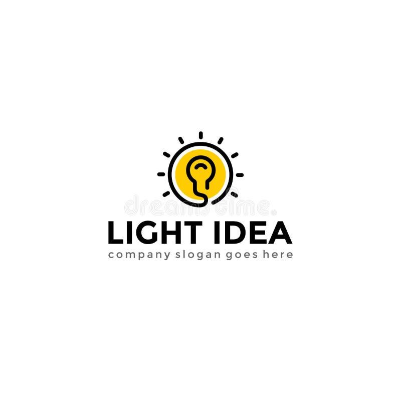 Bol licht embleem Creatief idee logotype vectormalplaatje stock illustratie