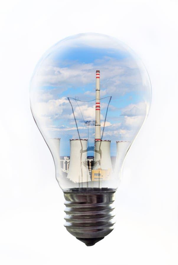 Bol met binnen elektrische centrale stock foto's