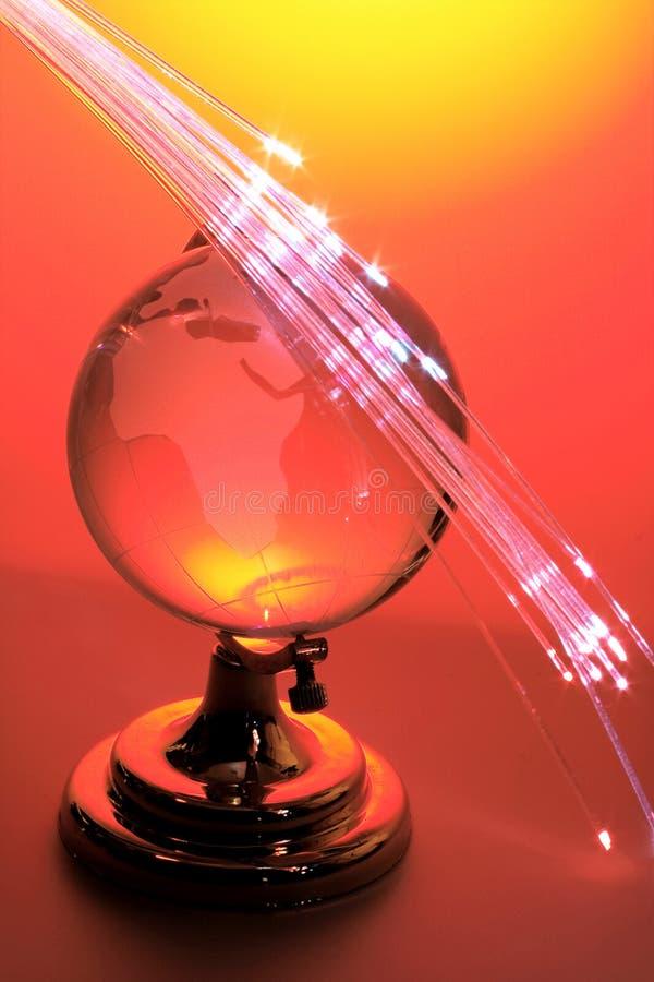 Bol met Optische Vezels stock afbeeldingen