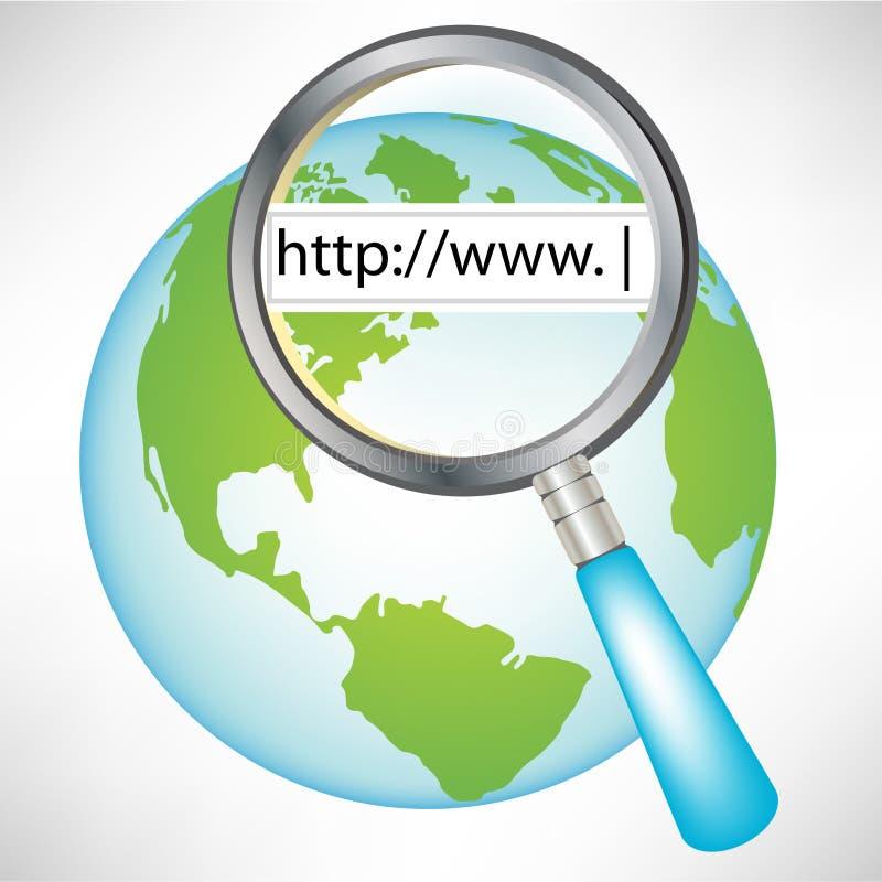 Bol met World Wide Web concept royalty-vrije illustratie
