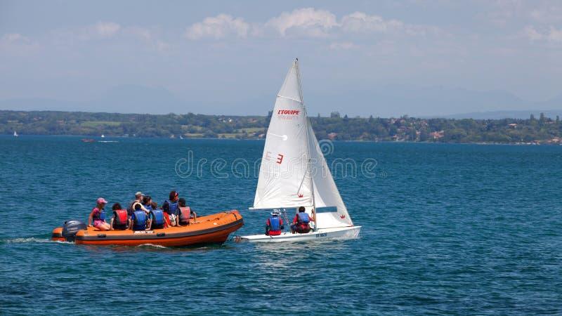 bol sailboat regatta λιμνών δ Γενεύη rolex στοκ φωτογραφία με δικαίωμα ελεύθερης χρήσης