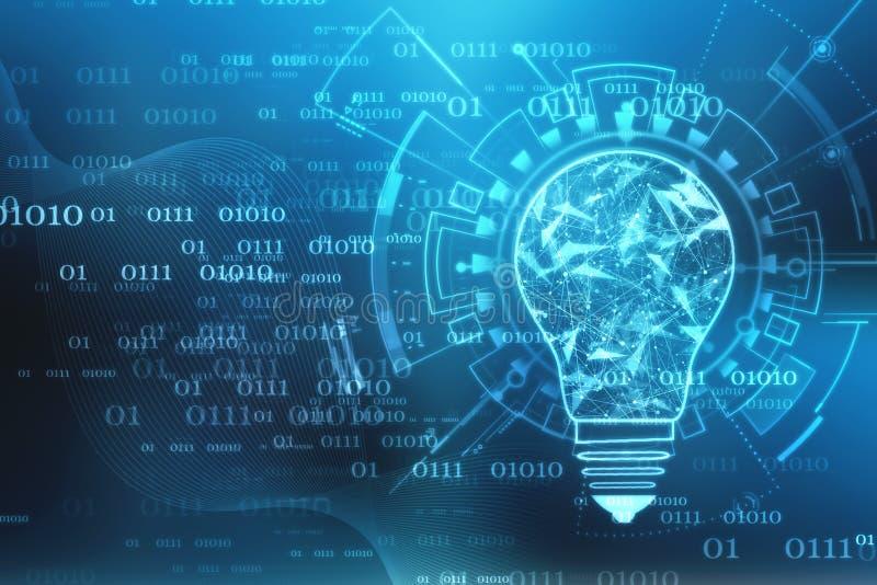 Bol toekomstige technologie, innovatieachtergrond, creatief ideeconcept royalty-vrije stock afbeelding