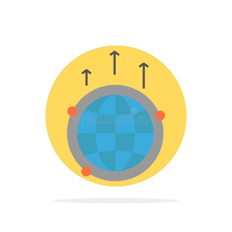 Bol, Zaken, Mededeling, Verbinding, Globaal, van de Achtergrond wereld Abstract Cirkel Vlak kleurenpictogram stock illustratie