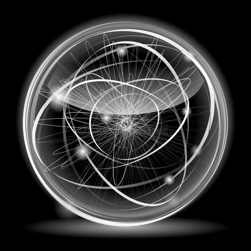 Bola abstracta brillante libre illustration