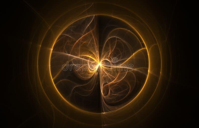 Bola abstracta de la llama del fractal libre illustration