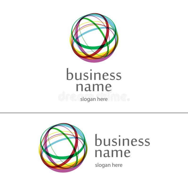 Bola do logotipo do fio ilustração royalty free