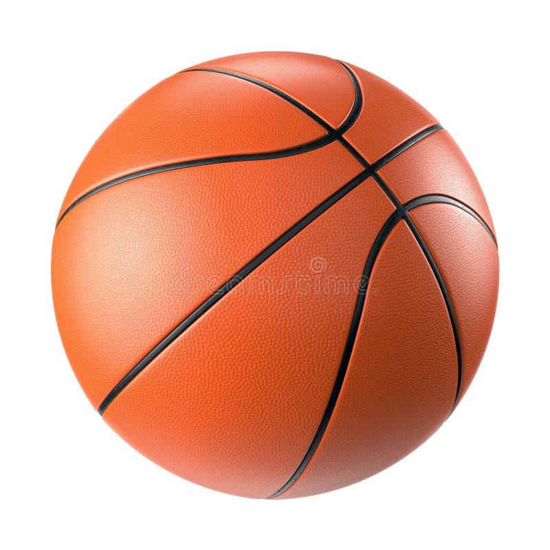 Bola alaranjada do basquetebol isolada no fundo branco imagens de stock royalty free