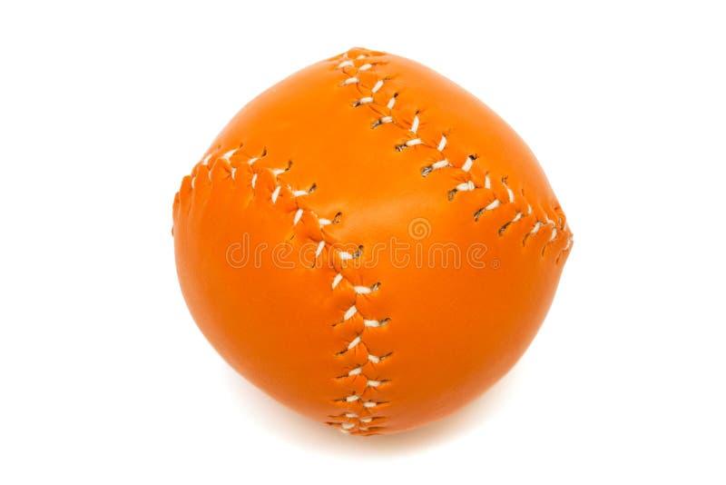 Bola anaranjada del béisbol fotografía de archivo libre de regalías