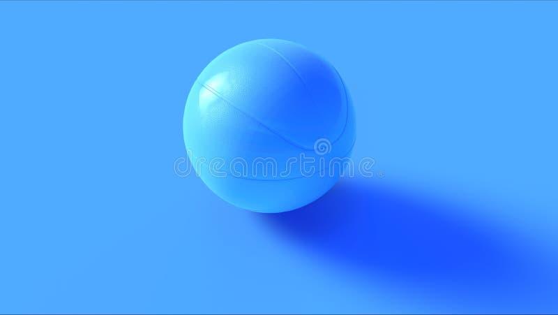 Bola azul da cesta foto de stock