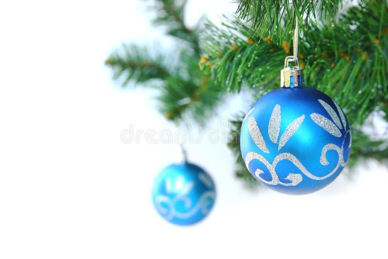 Bola azul de la Navidad imágenes de archivo libres de regalías