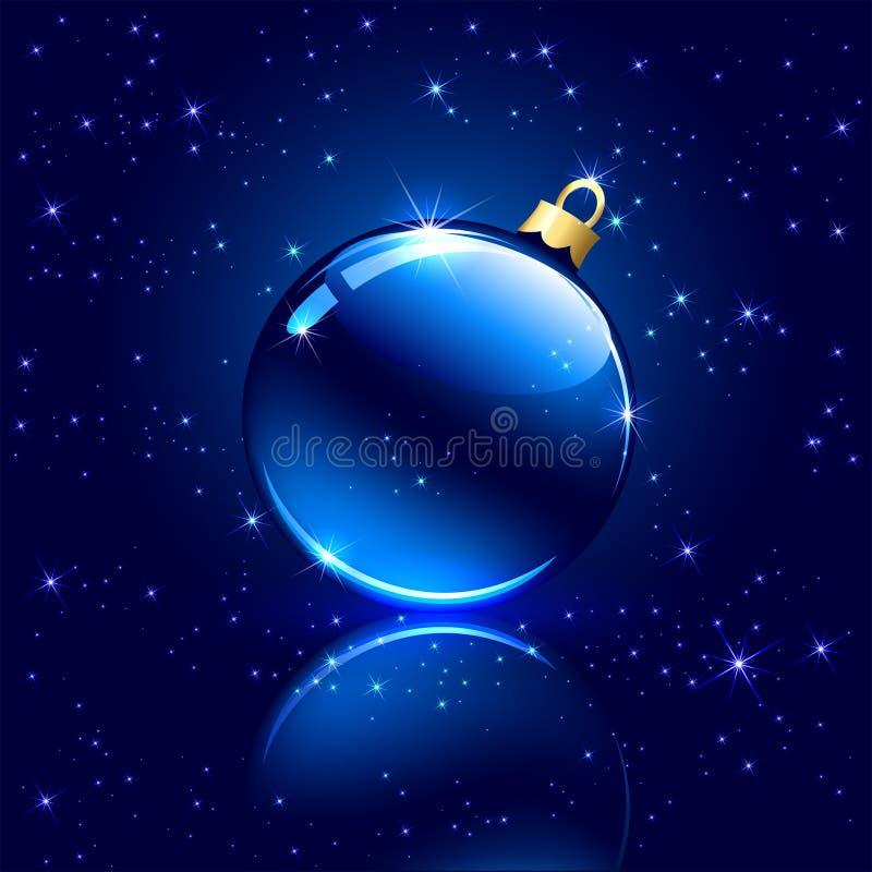 Bola azul de la Navidad libre illustration