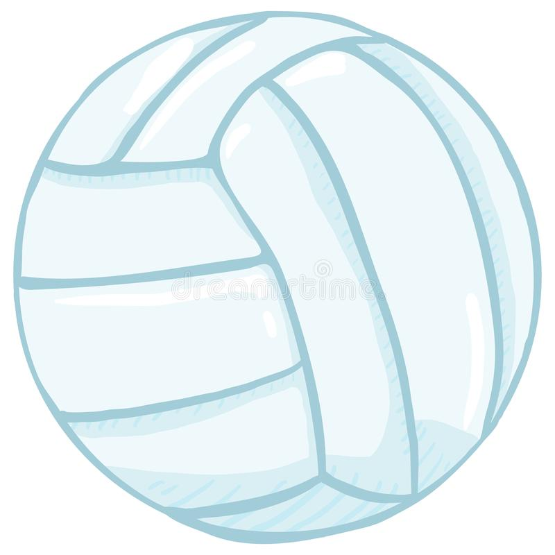 Bola azul do voleibol dos únicos desenhos animados do vetor ilustração royalty free