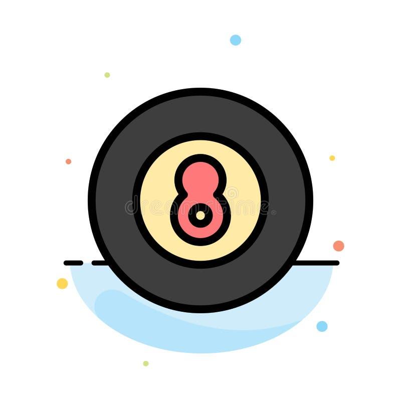 Bola, béisbol, juego, plantilla plana del icono del color del extracto del deporte stock de ilustración