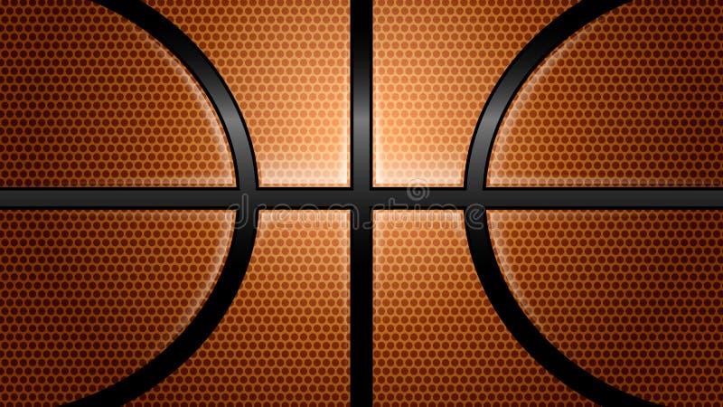 Bola, basquetebol, esporte, fundos ilustração stock