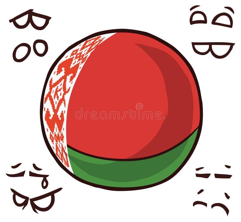 Bola belarus do país ilustração do vetor