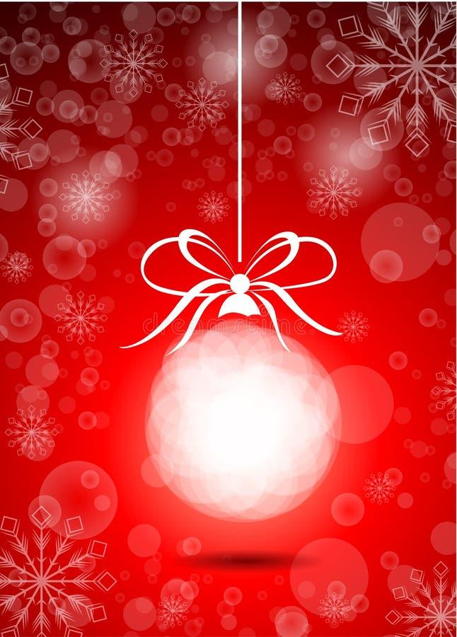 Download Bola Bonita Do Vermelho Do Natal Ilustração do Vetor - Ilustração de vermelho, cartão: 29841464