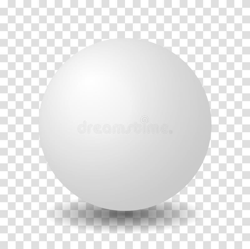Bola branca do vetor 3D da esfera ilustração royalty free