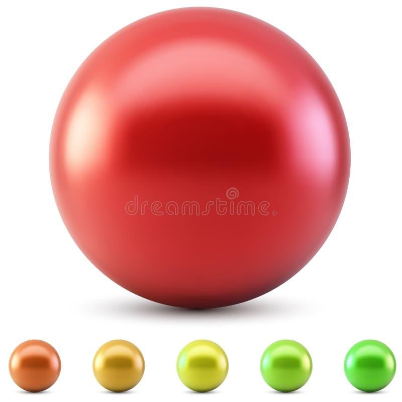 Bola brillante roja libre illustration