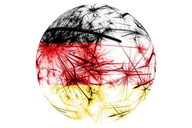 Bola chispeante de la bandera de los fuegos artificiales de Alemania Ornamento del Año Nuevo, de la Navidad y del día nacional y  libre illustration