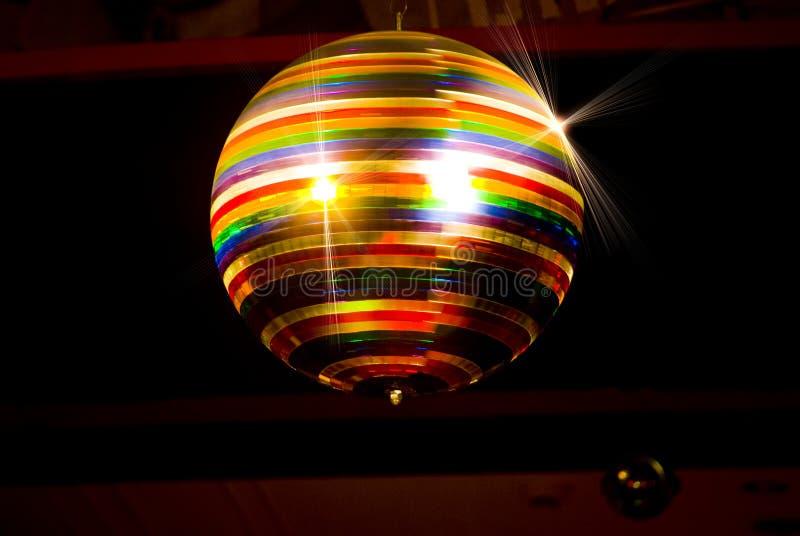Bola coloreada del disco imagen de archivo