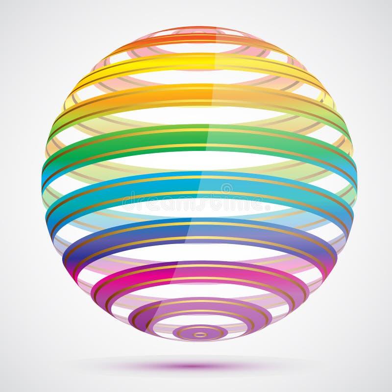Bola colorida ilustración del vector