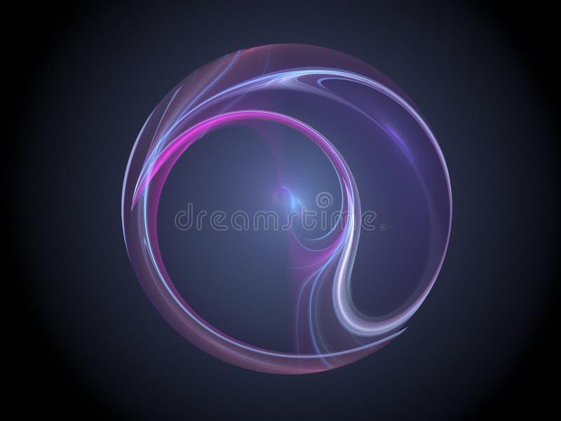 Bola colorida del fractal del plasma imágenes de archivo libres de regalías