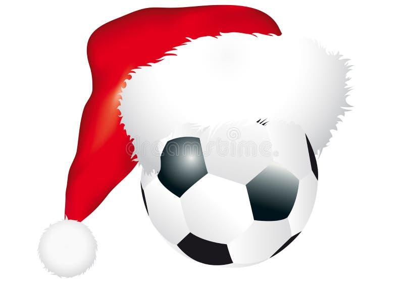 Bola con el sombrero de la Navidad ilustración del vector