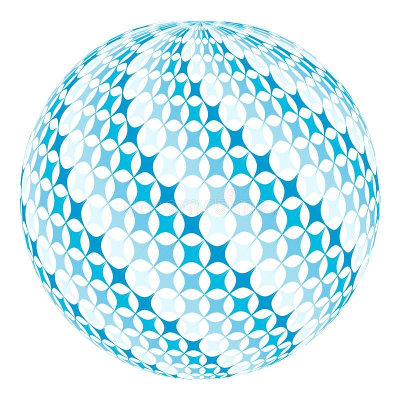 Bola con remolino diagonal ilustración del vector