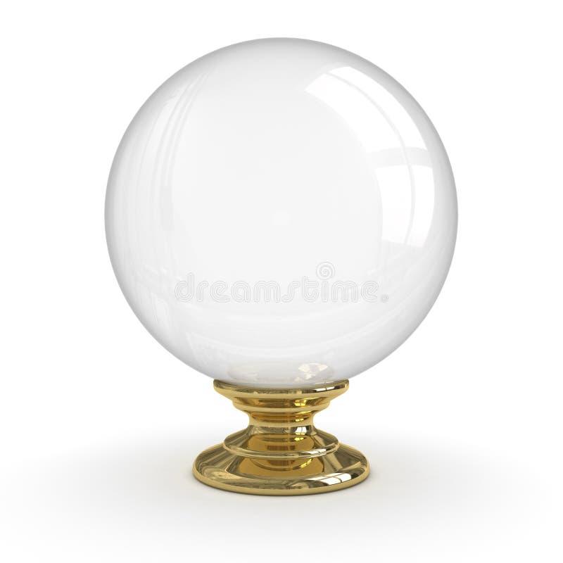 Bola cristalina stock de ilustración