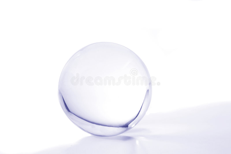 Bola cristalina azul imagen de archivo