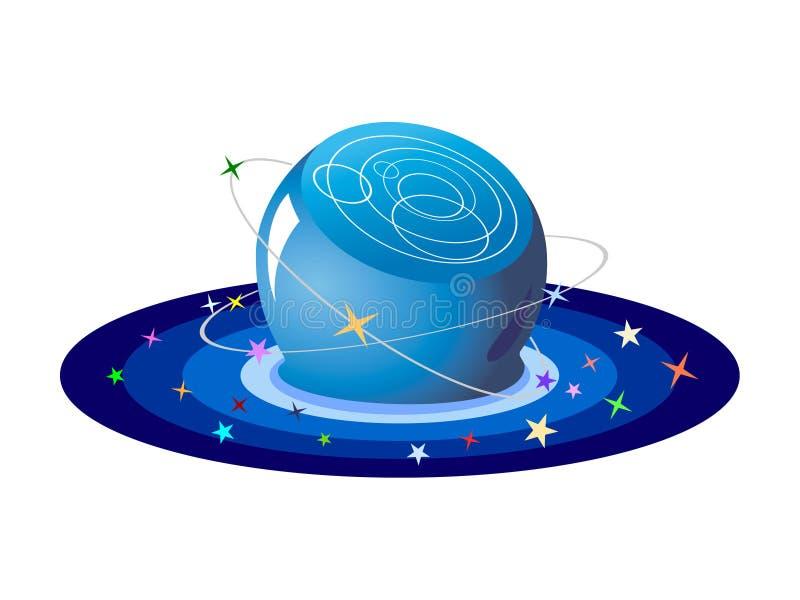 Bola cristalina de estrellas stock de ilustración