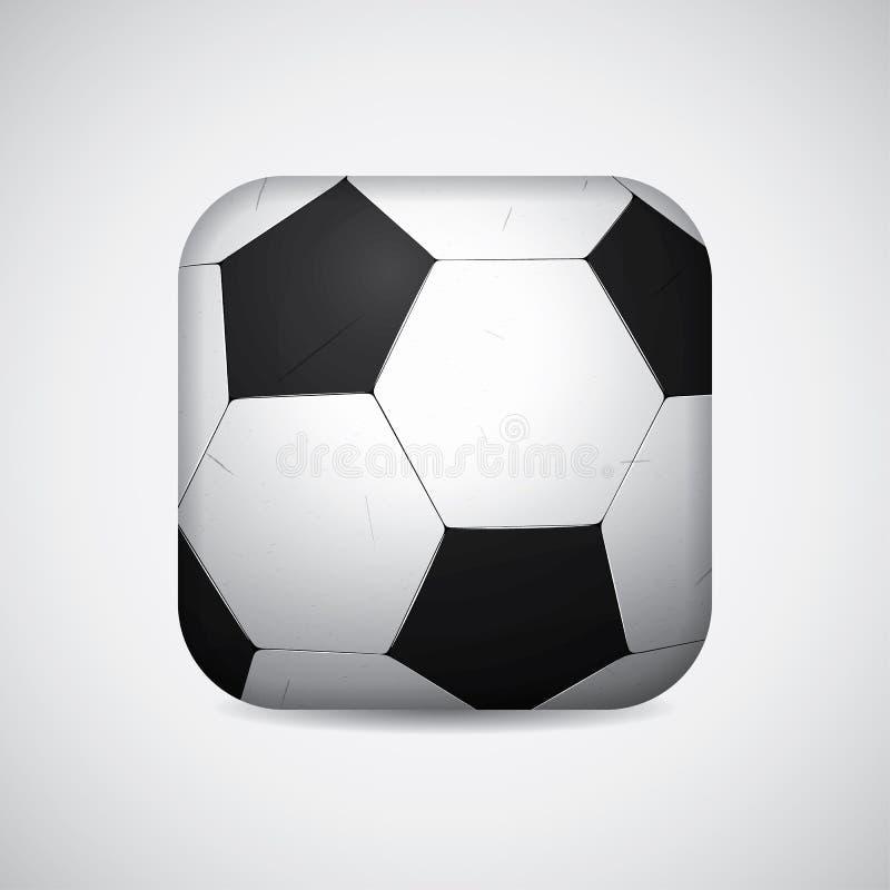 Bola cuadrada brillante de la forma del fútbol/del fútbol Ilustración del vector stock de ilustración