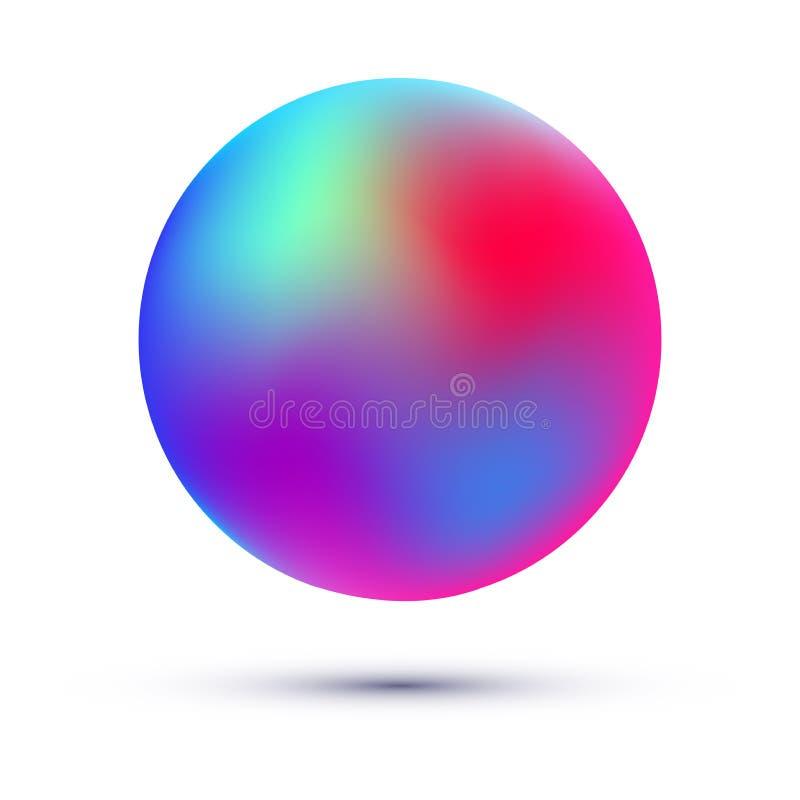 Bola da malha Esfera colorida do inclinação ilustração stock
