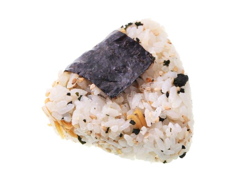 Bola de arroz japonesa imagem de stock