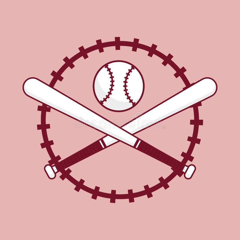 Bola de bastão de beisebol ilustração royalty free