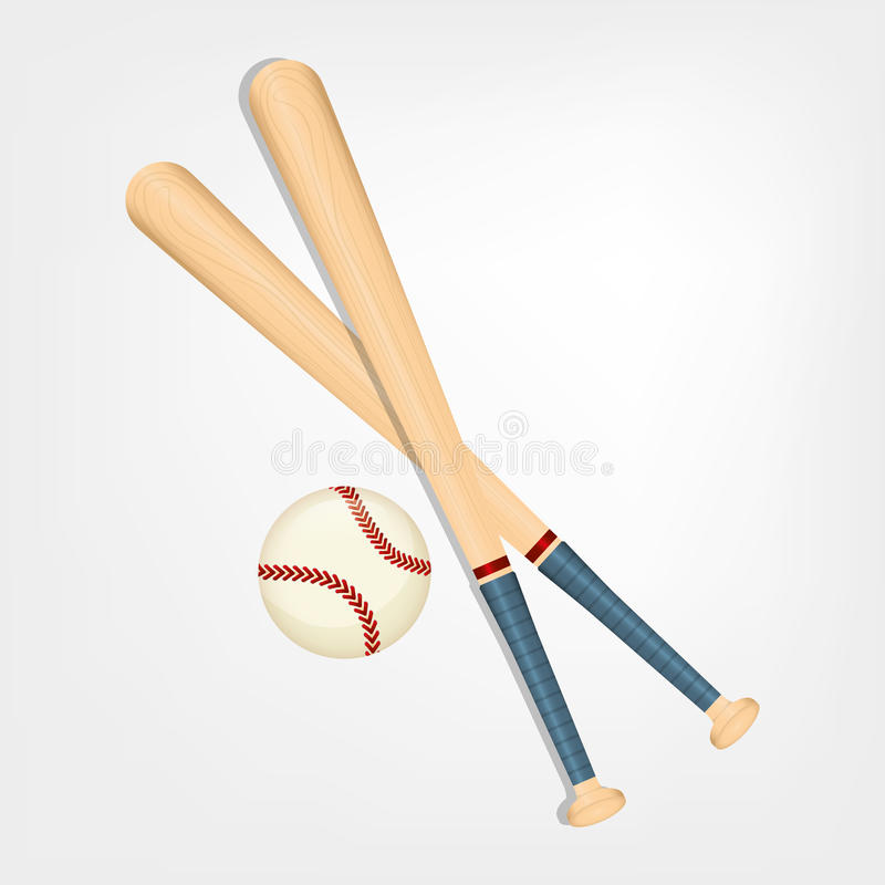 Bola de bastão de beisebol ilustração do vetor