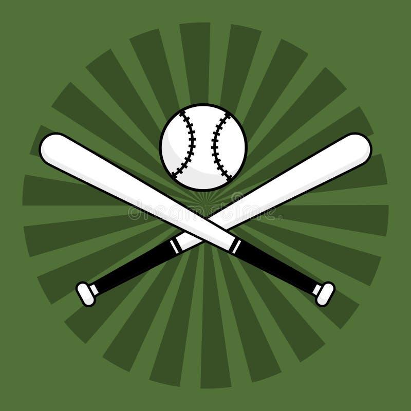 Bola de bastões de beisebol ilustração stock