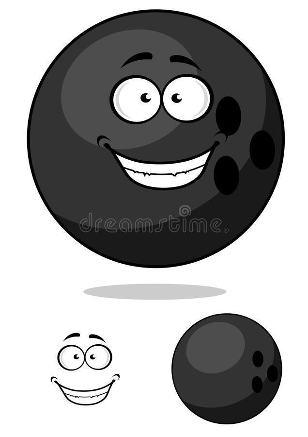Bola de boliches de Cartooned ilustração do vetor