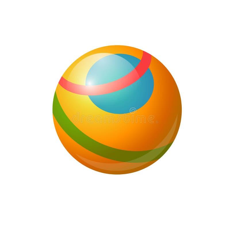 Bola de borracha para crianças - objeto isolado realístico do vetor moderno ilustração do vetor