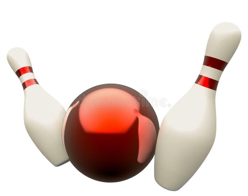 Download Bola De Bowling Que Causa Un Crash En Los Bolos Stock de ilustración - Ilustración de equipo, logro: 41905893
